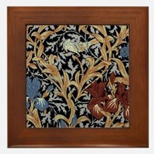 William Morris Iris Design Framed Tile