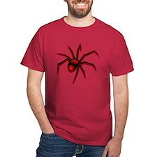 Black Widow Spider Red T-Shirt