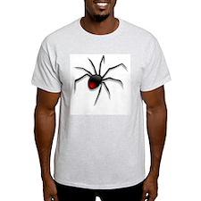 Black Widow Spider Grey T-Shirt