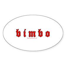 Bimbo Oval Decal