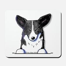 B/W Pocket Corgi Mousepad