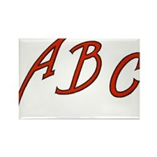 Abc Teacher Rectangle Magnet