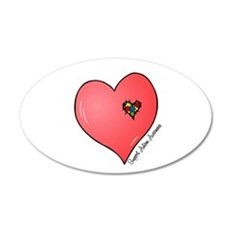 Autism is in my heart Wall Decal