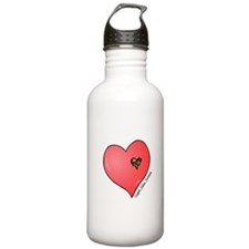 Autism is in my heart Water Bottle
