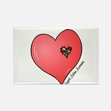 Autism is in my heart Rectangle Magnet (10 pack)