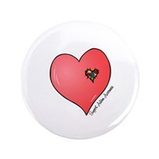 "Autism is in my heart 3.5"" Button"