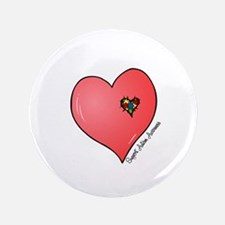"""Autism is in my heart 3.5"""" Button"""