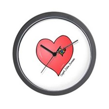 Autism is in my heart Wall Clock
