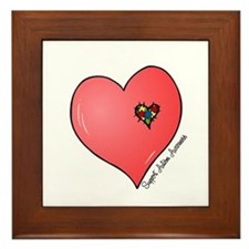 Autism is in my heart Framed Tile