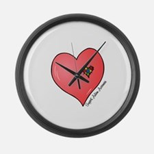 Autism is in my heart Large Wall Clock