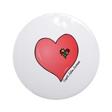 Autism is in my heart Ornament (Round)