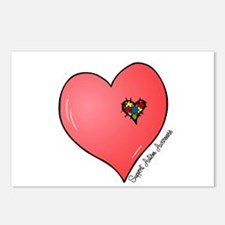 Autism is in my heart Postcards (Package of 8)
