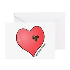 Autism is in my heart Greeting Cards (Pk of 20)