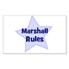 Marshall Rules Rectangle Decal