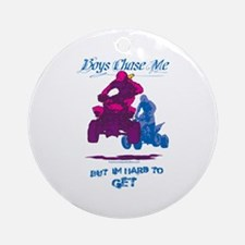 Boys Chase Me Ornament (Round)