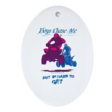 Boys Chase Me Ornament (Oval)