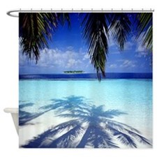 Paradise Tropical Island Shower Curtain