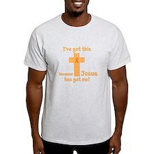 Peach Jesus Has Got Me T-Shirt