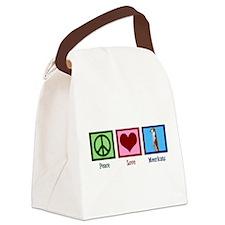 Peace Love Meerkats Canvas Lunch Bag