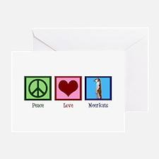 Peace Love Meerkats Greeting Card