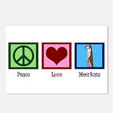 Peace Love Meerkats Postcards (Package of 8)