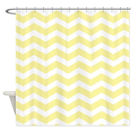 Pale Yellow Chevron Shower Curtain By Inspirationzstore