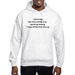 Upside Down Hooded Sweatshirt