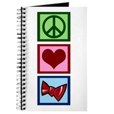 Peace Love Bow Ties Journal