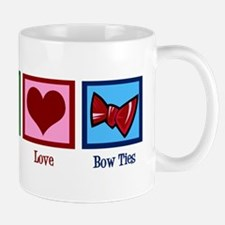 Peace Love Bow Ties Mug