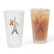 Paris Love Eiffel Tower with Red Balloons Drinking