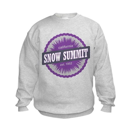 Snow Summit Ski Resort California Purple Sweatshir