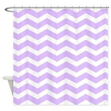 Lilac Purple chevron Shower Curtain