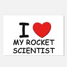 I love rocket scientists Postcards (Package of 8)