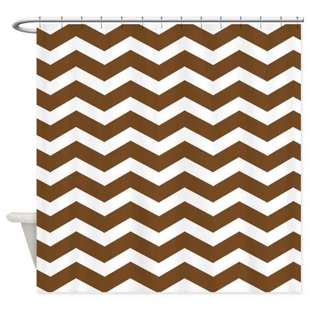 Brown Chevron Shower Curtain By InspirationzStore