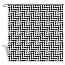 Black and white houndstooth Shower Curtain