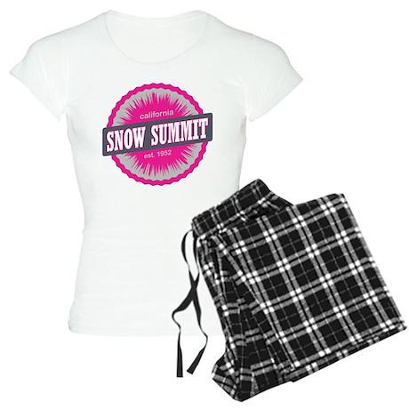 Snow Summit Ski Resort California Pink Pajamas