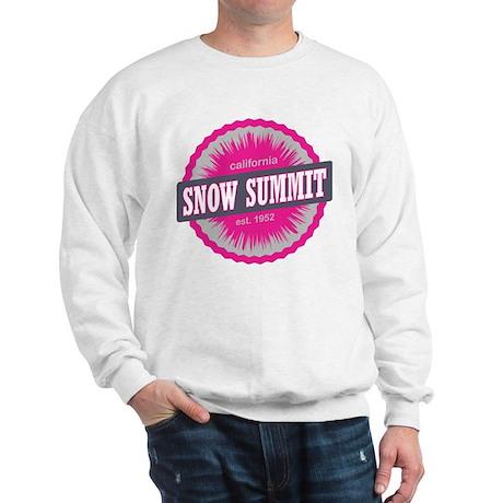 Snow Summit Ski Resort California Pink Sweatshirt