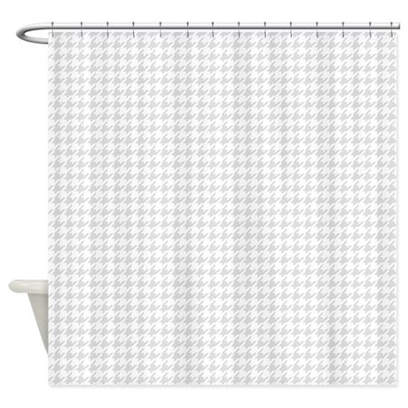 Grey Houndstooth Shower Curtain