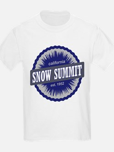 Snow Summit Ski Resort California Navy Blue T-Shir