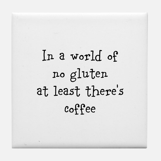 World of no gluten Tile Coaster