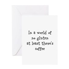World of no gluten Greeting Card