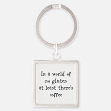 World of no gluten Square Keychain