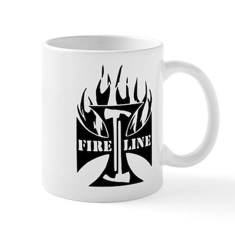 Fire Line Pulaski Iron Cross Mug