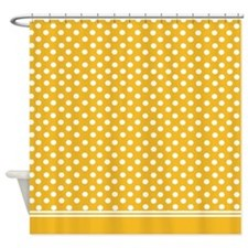 Yellow polka dot Shower Curtain