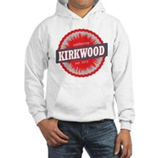 Kirkwood Mountain Ski Resort California Red Hoodie