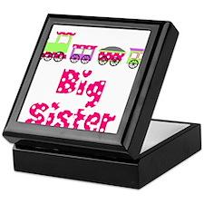 Big Sister Pink Train Keepsake Box