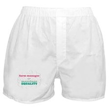 Farm Manager for Equality Boxer Shorts