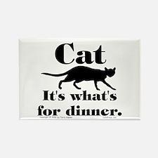 Cat/Dinner. Rectangle Magnet