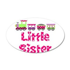 Little Sister Pink Train Wall Decal