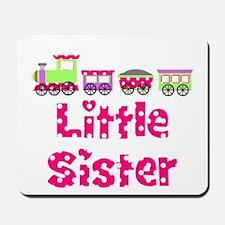 Little Sister Pink Train Mousepad